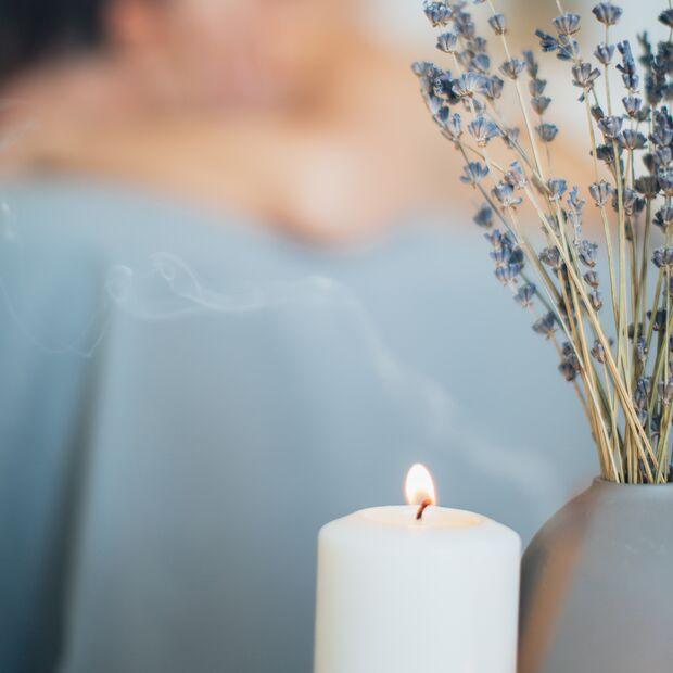 Lavendelkerze