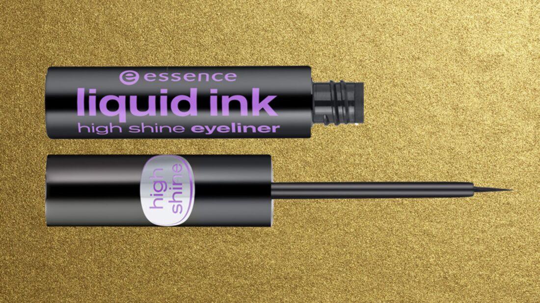Lidstrich mit Eyeliner: Essence liquid ink high shine