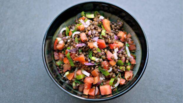 Linsen-Salat mit Quark