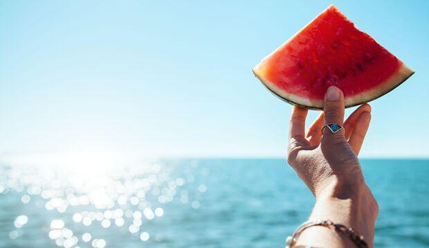 Melone kühlt von Innen