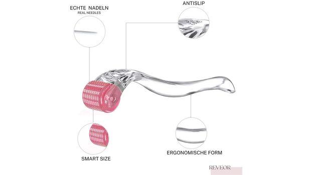 Microneedling Roller REVEOR - Echte Nadeln - Dermaroller für Gesicht