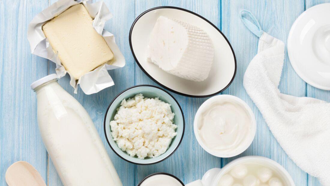 Milchprodukte können bei Bestehen einer Laktoseintoleranz zu unangenehmen Nebenwirkungen führen