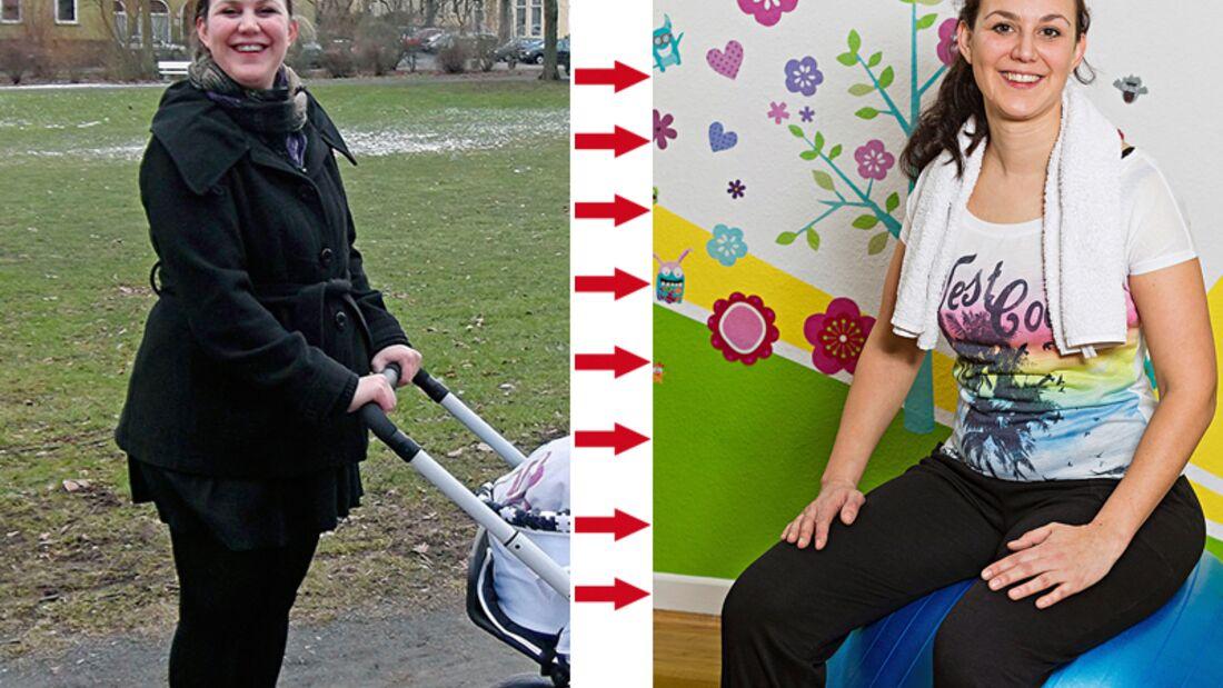 Monia hat abgenommen: Vorher wog sie 89 Kilo und nachher 64 Kilo