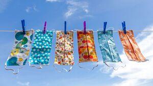 Mund-Nasen-Schutzmasken aus Baumwolle müssen nach jedem Waschen gut getrocknet werden