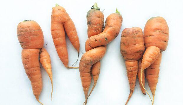 """Nicht schön, aber genau so gesund und lecker, wie """"normalen"""" Karotten"""