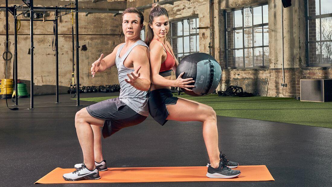Partner-Workout: Ball-Rotation