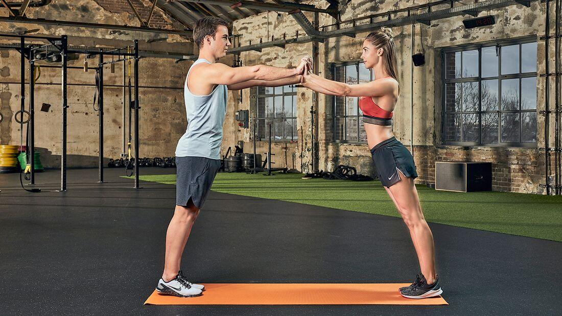Partner-Workout: Brustpresse