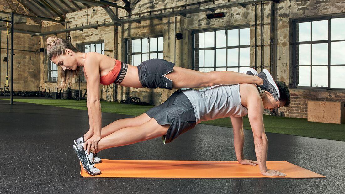 Partner-Workout: Power-Planke