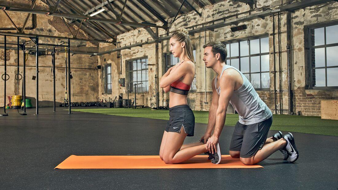 Partner-Workout: Vorkippen