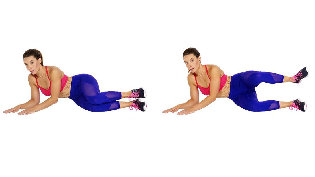 Po-Workout: Seitliches Beinheben