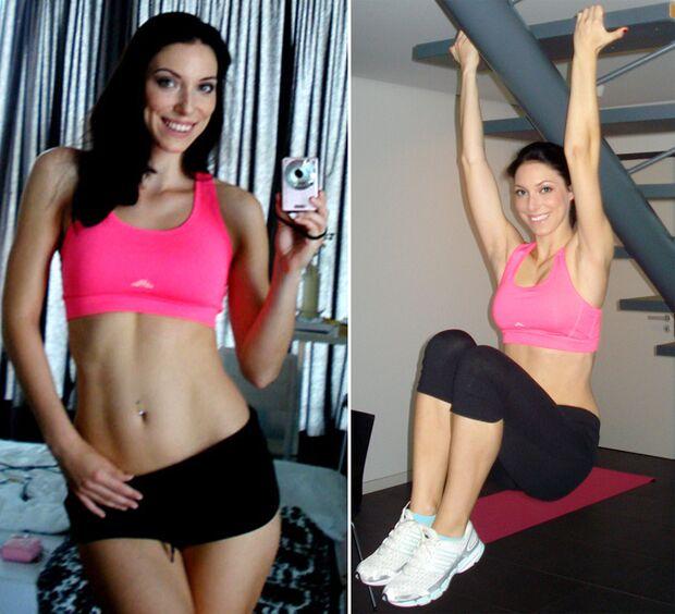 Rebecca ist unser neues Fitness-Model