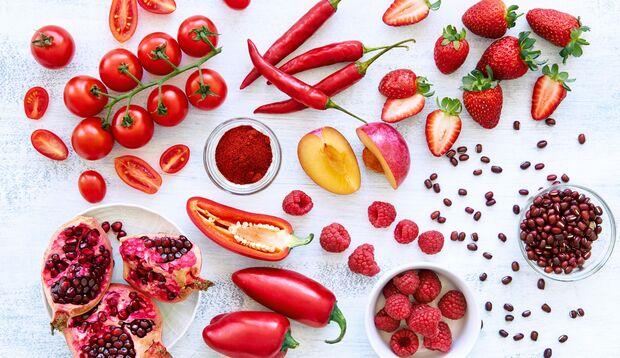 Rotes Obst und Gemüse enthält viel Lycopin
