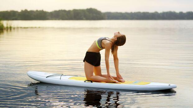 SUP-Yoga löst Stress besonders effektiv
