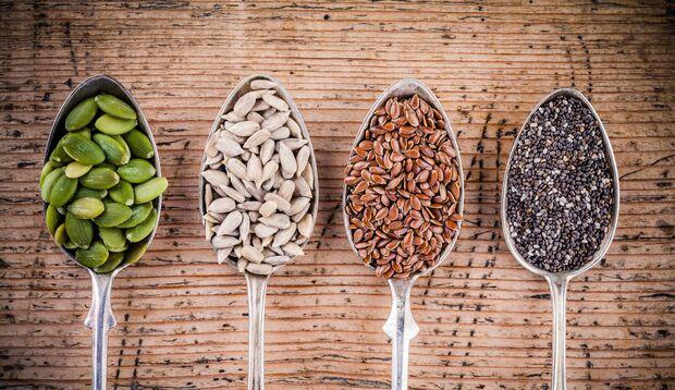 Samen und Kerne sind sehr proteinreich
