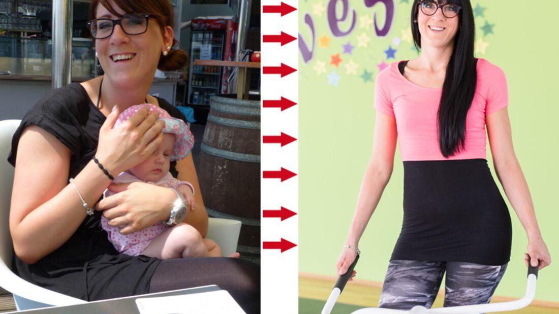 Samira wog vorher 96 Kilo und nachher 70 Kilo