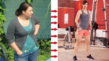 Sarah wog vorher 89 Kilo und nachher 63 Kilo