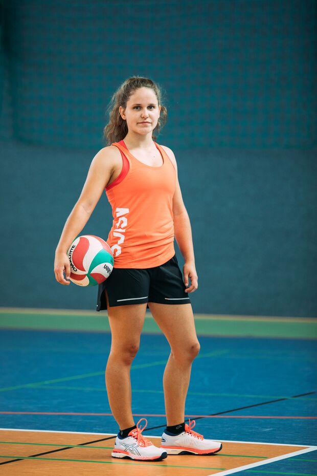 """Seit 2008 spielt Julia Volleyball bei den """"Volleyhasen"""""""