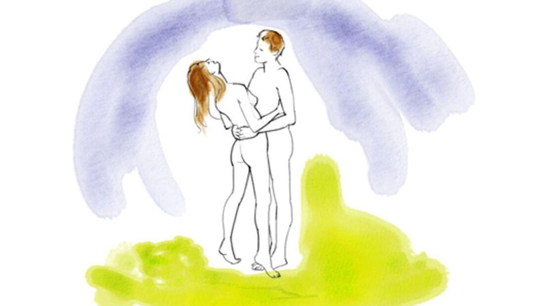 Sexstellungen aus dem Kamasutra: Bauch an Bauch
