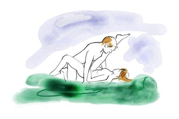 Sexstellungen aus dem Kamasutra: Den Bambus spalten