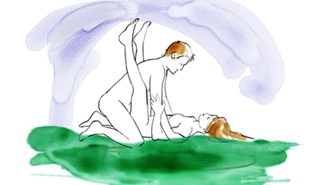 Sexstellungen aus dem Kamasutra: Der Gähnstellung