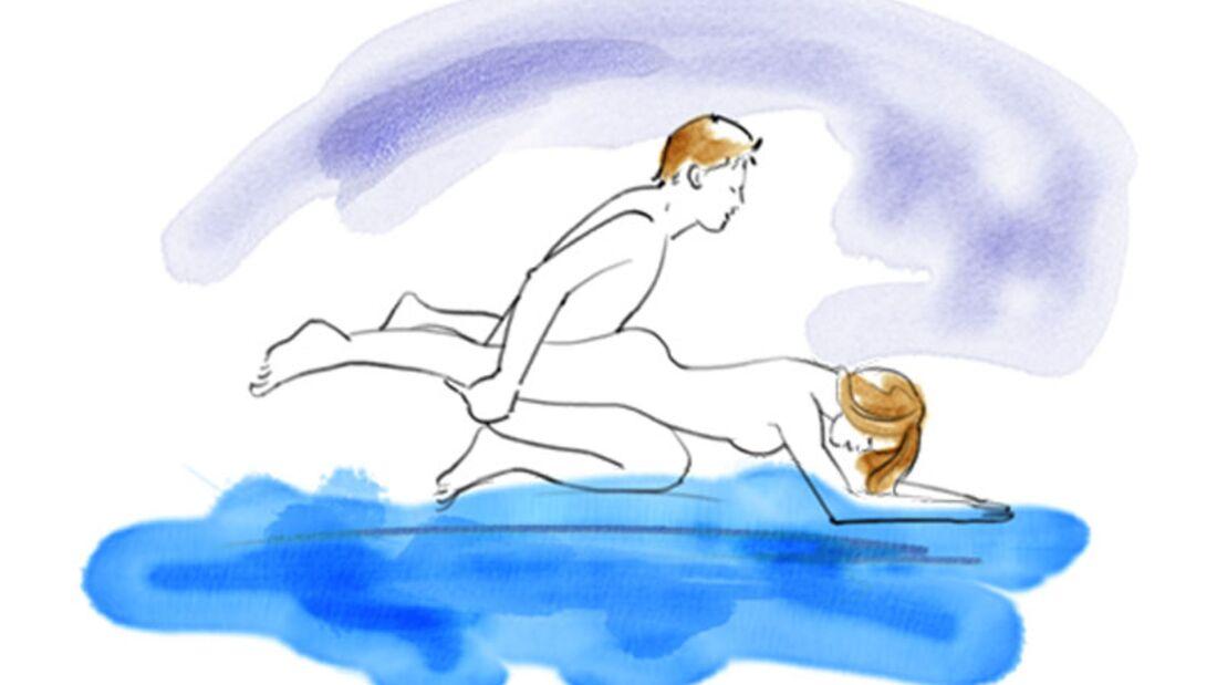Sexstellungen aus dem Kamasutra: Der Pflug