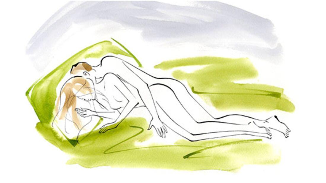 Sexstellungen aus dem Kamasutra: Die Löffel-Stellung