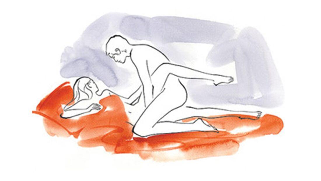 Sexstellungen aus dem Kamasutra: Die Schenkelklammer