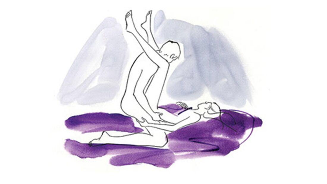 Sexstellungen aus dem Kamasutra: Die erhobene Stellung