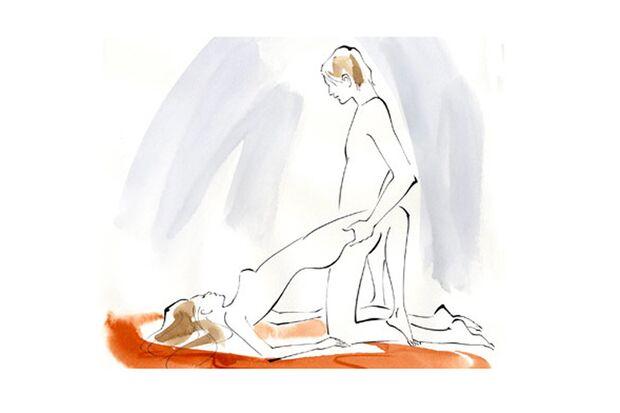 Sexstellungen aus dem Kamasutra: Die offene Blüte