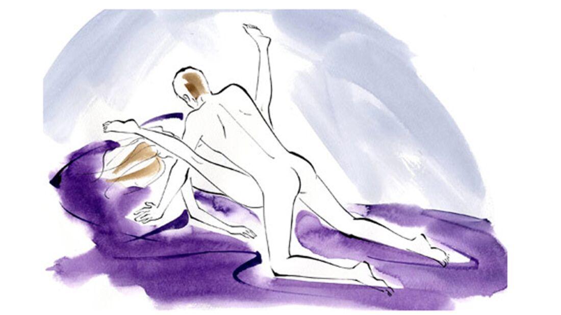 Sexstellungen aus dem Kamasutra: Die weit geöffnete Stellung