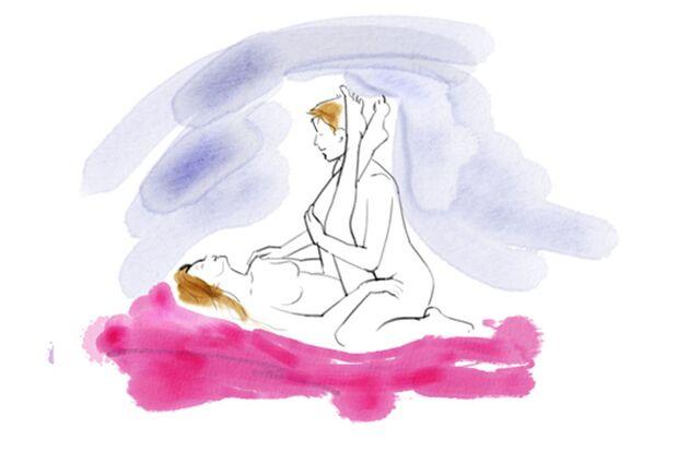 Sexstellungen aus dem Kamasutra: Enge Stellung