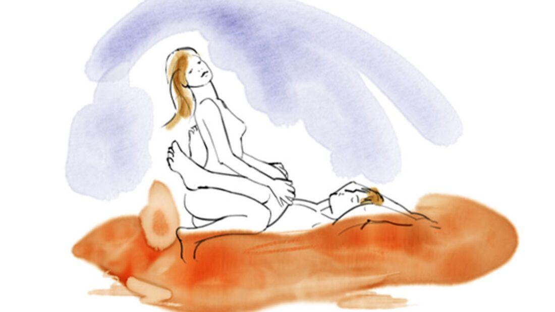 Sexstellungen aus dem Kamasutra: Glied reiten