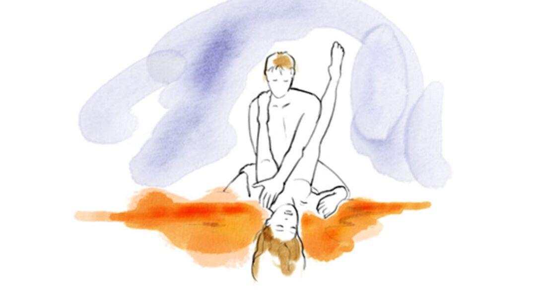 Sexstellungen aus dem Kamasutra: Halbe Pressstellung