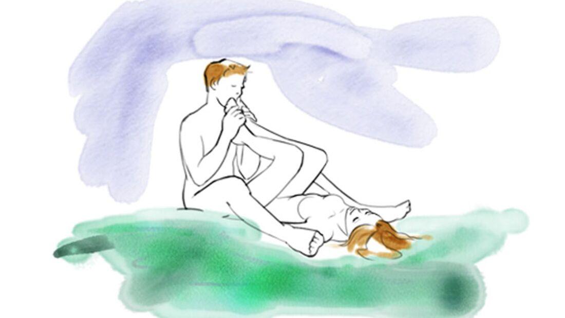 Sexstellungen aus dem Kamasutra: Namaste