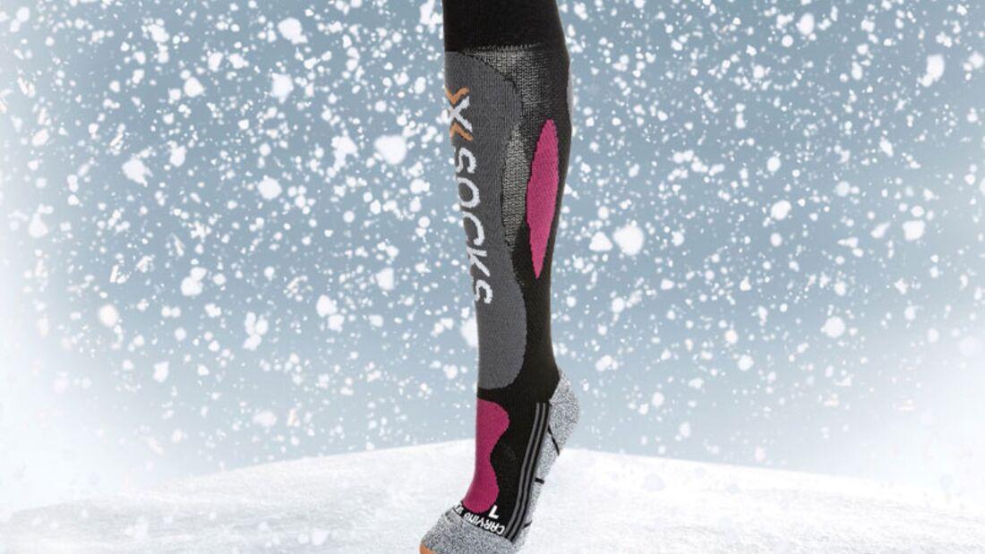 Skisocken von X-Socks, zirka 35 Euro, über Zalando