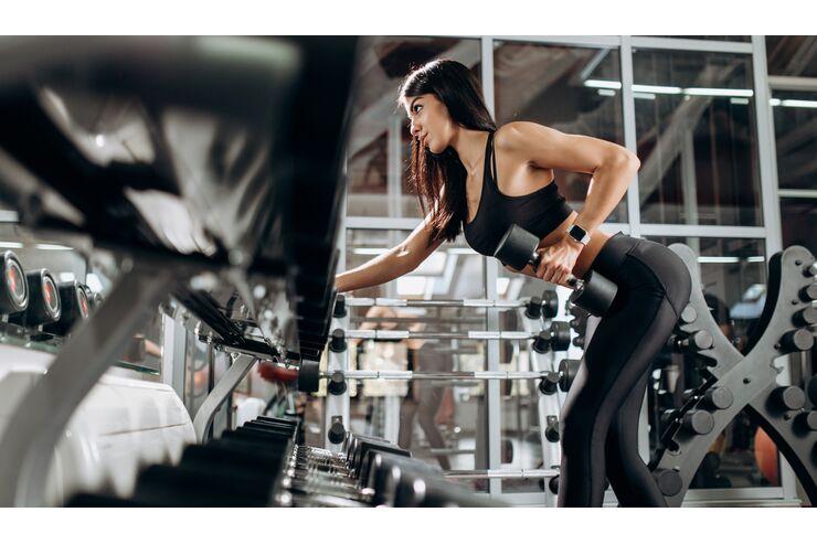 Bilder trainieren Routine, um Gewicht zu verlieren
