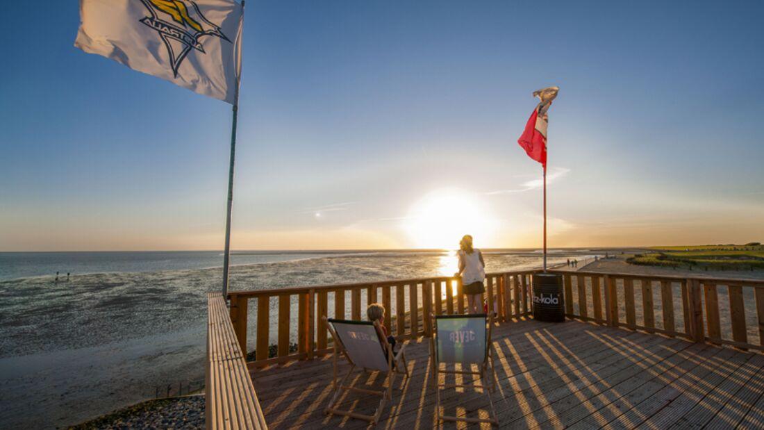 Strand an der Nordsee: Familienlagune Perlenbucht in Büsum