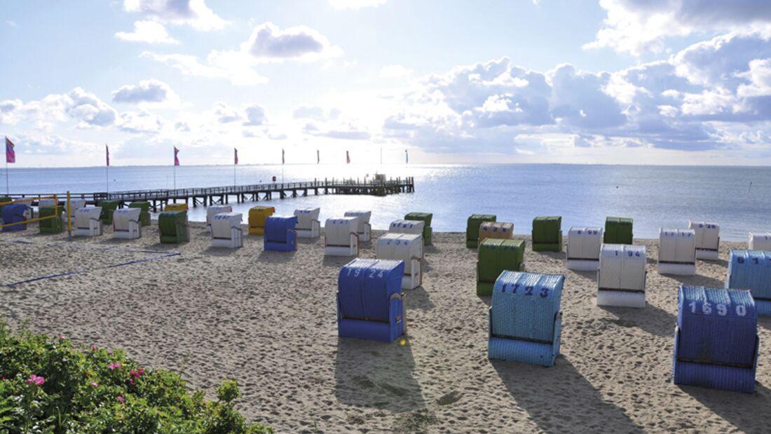 Strand an der Nordsee: Wyk auf Föhr