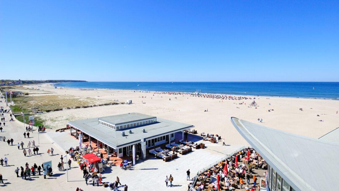 Strand an der Ostsee: Warnemünde
