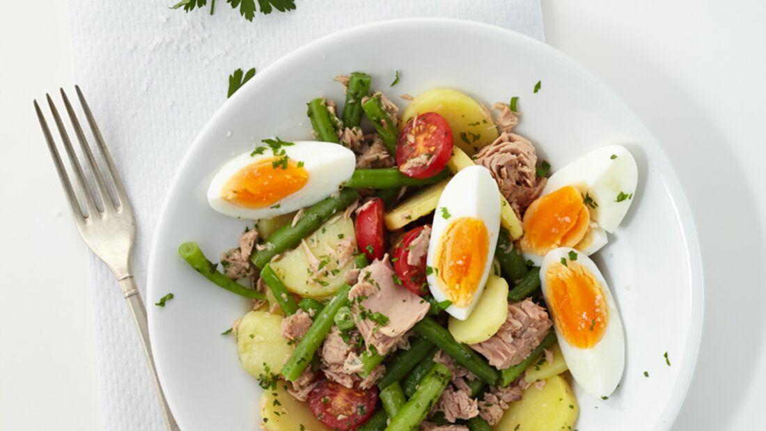 Thunfisch-Kartoffel-Salat mit Ei
