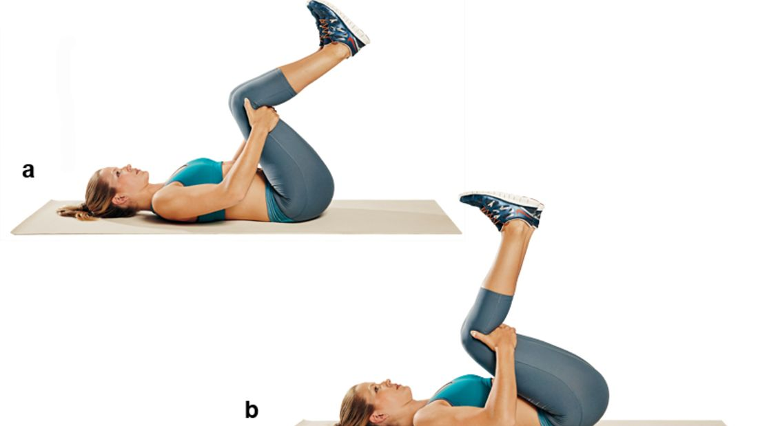Trainingsplan flacher Bauch: Beinzüge