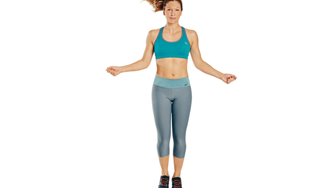 Trainingsplan flacher Bauch: Seilspringen