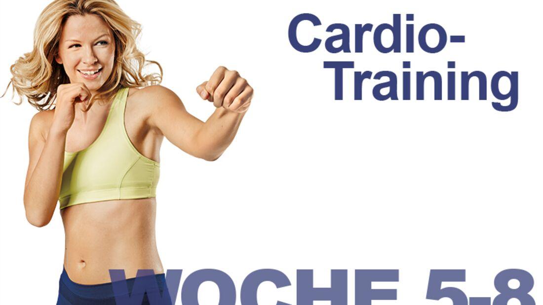 Trainingsplan flacher Bauch: Woche 5-8 / Cardio-Training