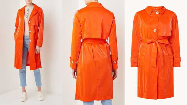 Trenchcoat in strahlendem orange von Beaumont