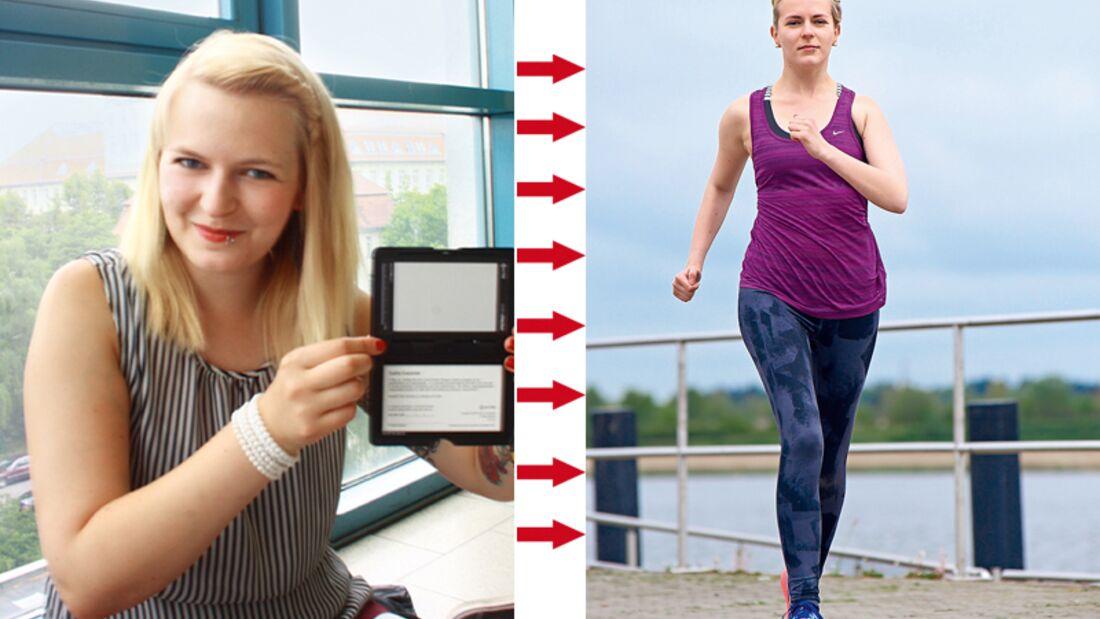 Ulrike hat abgenommen: Vorher wog sie 71 Kilo und nachher 56 Kilo