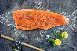 Aubergine zum Abnehmen, wie man Lachs zubereitet