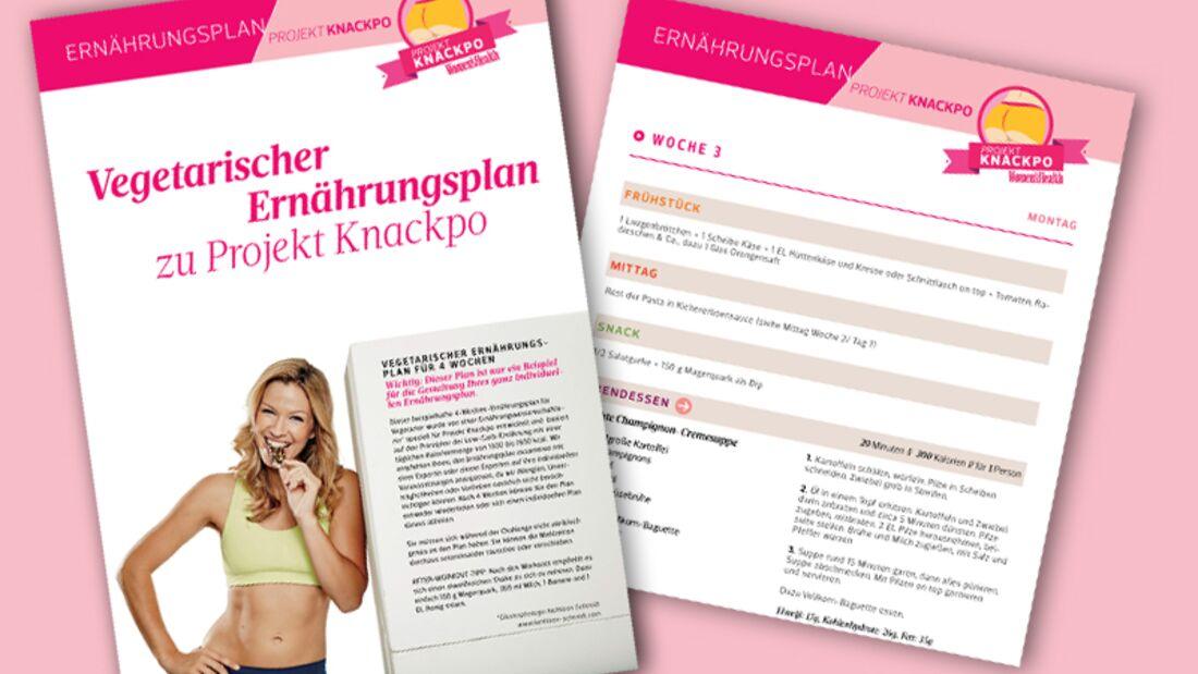 Vegetarischer Ernährungsplan zu Projekt Knackpo downloaden