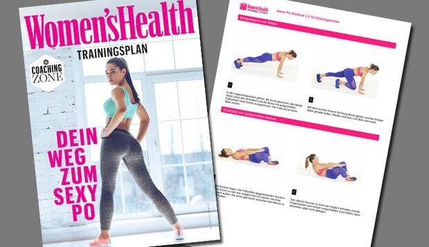 Vorschau Trainingsplan Jeans-Po knackiger Hintern