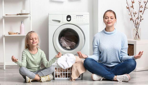 Waschen und die Ruhe bewahren