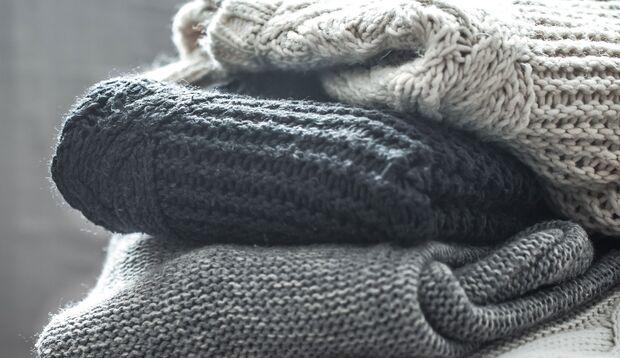Wolle liegend lagern